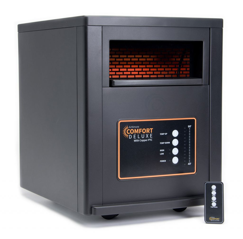 AirNmore Comfort Deluxe with Copper PTC Space Heater